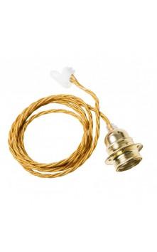 Витой потолочный шнур (золото/ латунь)