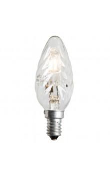Галогенная лампа  свеча  скрученная  E14 18W