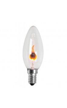 Лампа накаливания  свеча  мерцающая E14 3W
