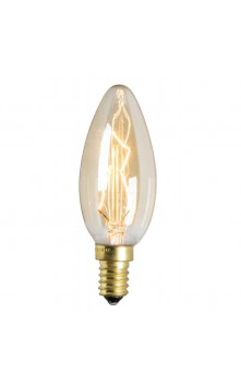 Лампа накаливания  для люстры золотая E14 25W