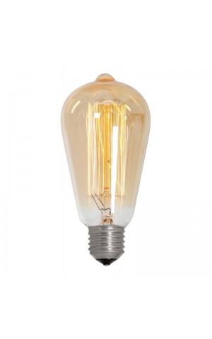 Лампа накаливания  каплевидная золотая E27 35W