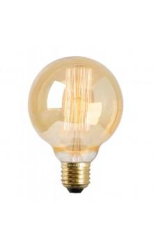 Лампа накаливания круглая золотая 122 мм E27 35W